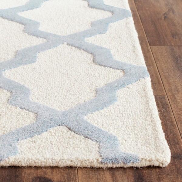 Vlněný koberec Ava Light Blue, 91x152 cm