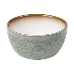 Zelenošedá kameninová miska s vnitřní glazurou v krémově bílé barvě Bitz Mensa, průměr 10 cm