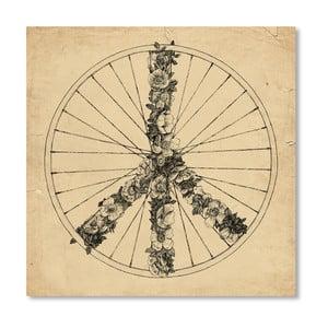 Plakát Peace And Bike Lines od Florenta Bodart, 30x30 cm