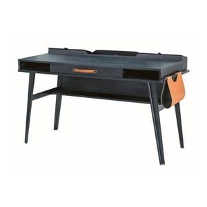 Černý pracovní stůl Dark Metal Study Desk
