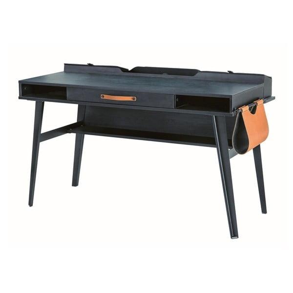 Dark Metal Study Desk fekete íróasztal