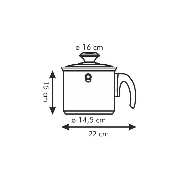 Oală cu perete dublu pentru lapte Tescoma, 2 l