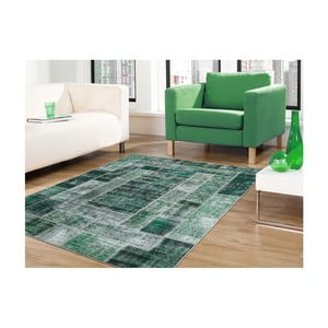 Zelený koberec odolný proti skvrnám Webtappeti Montage, 80x150cm