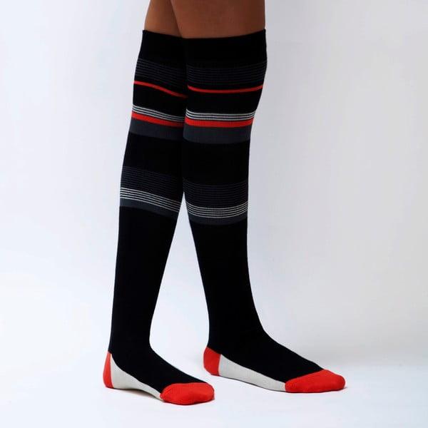 3 páry podkolenek Stripes, velikost 36-40