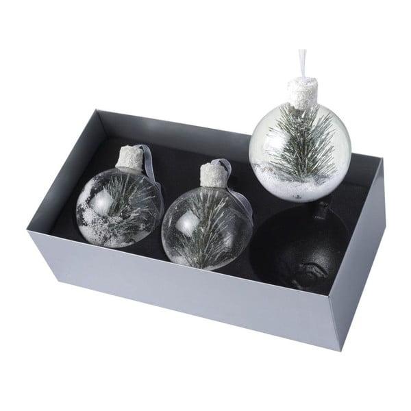 Vánoční ozdoby Snow & Pine, 3 ks