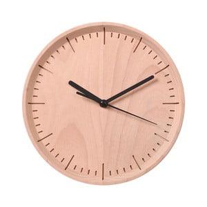 Černé hodiny z bukového dřeva Qualy&CO Meter