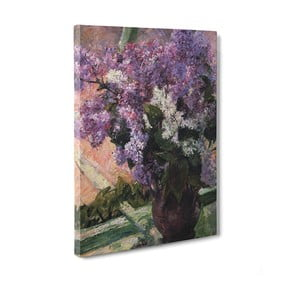 Obraz Lilacs in a Window - Cassat Mary, 50x70 cm