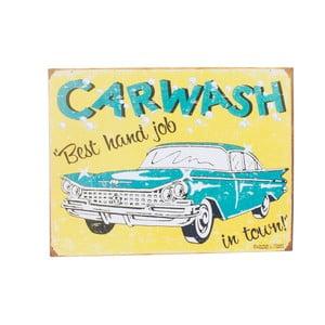 Nástěnná cedule Novita Carwash, 40x30cm
