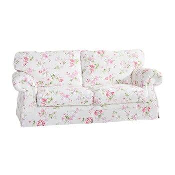 Canapea 3 locuri, înflorată, Max Winzer Mina, roz-alb