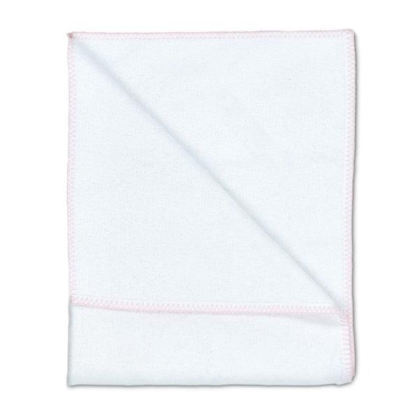 Sada 2 osušek Whyte 100x150 cm, bílá/růžová