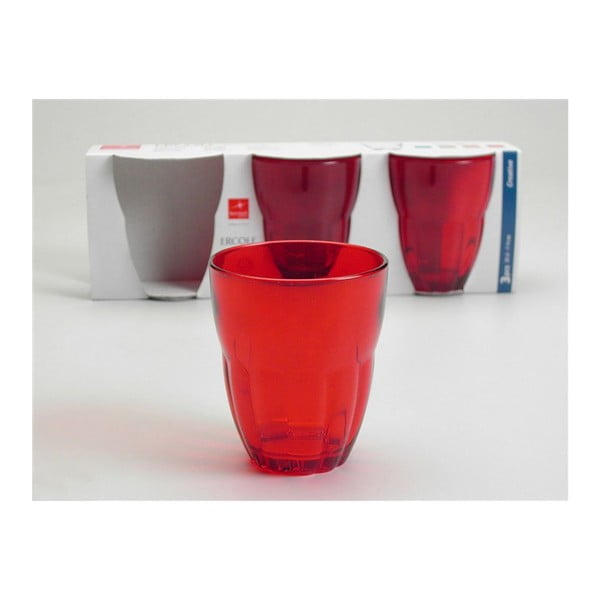 Set skleniček Ercole Red, 3 ks