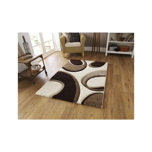 Hnědo-béžový koberec Think Rugs Fashion, 80x 150cm