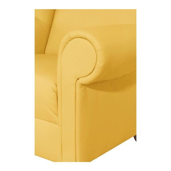 Žluté křeslo ušák Max Winzer Monarch Yellow