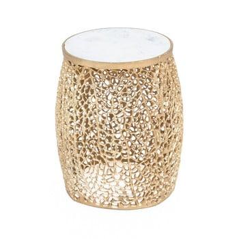 Taburet WOOX LIVING Honey, ⌀ 35 cm, auriu de la WOOX LIVING