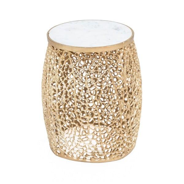 Odkládací stolek ve zlaté barvě WOOX LIVING Honey, ⌀35cm