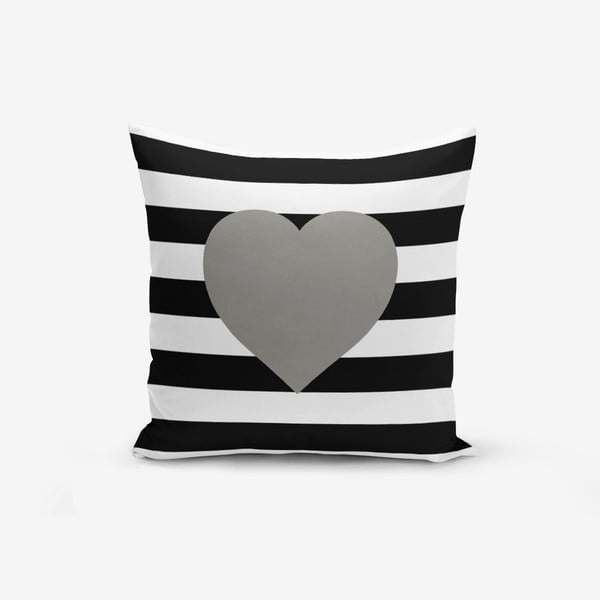 Obliečky na vaknúš s prímesou bavlny Minimalist Cushion Covers Striped Grey, 45 × 45 cm
