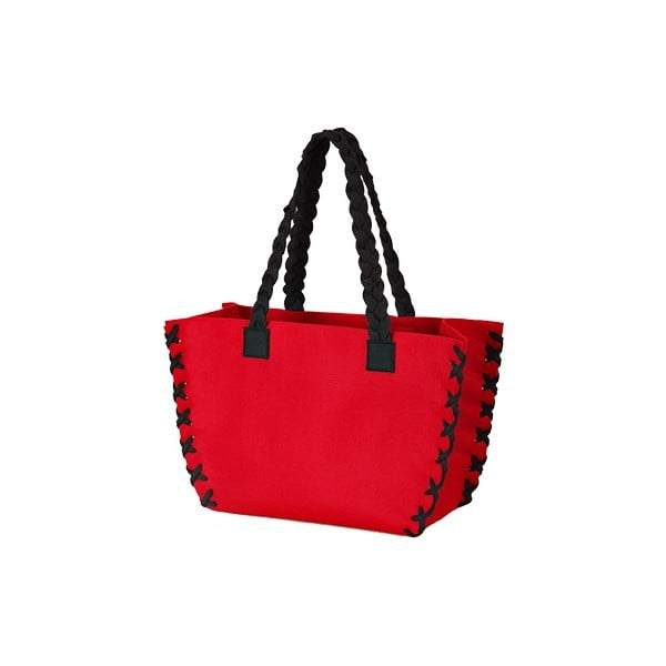 Menší plstěná taška, červená