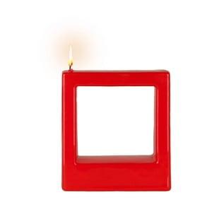 Světle červená svíčka Alusi Quadra, 4hodinhoření
