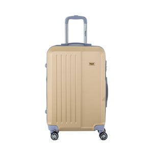 Cestovní kufr na kolečkách v barvě šampaň s kódovým zámkem SINEQUANONE Chandler, 71 l