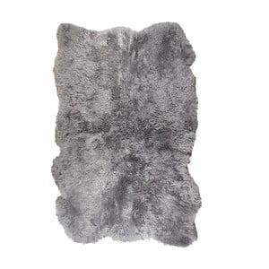 Covor din blană cu fir scurt Darte, 170 x 110 cm, gri