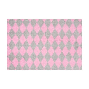 Růžovošedá rohožka Hanse Home Circus, 50x70cm