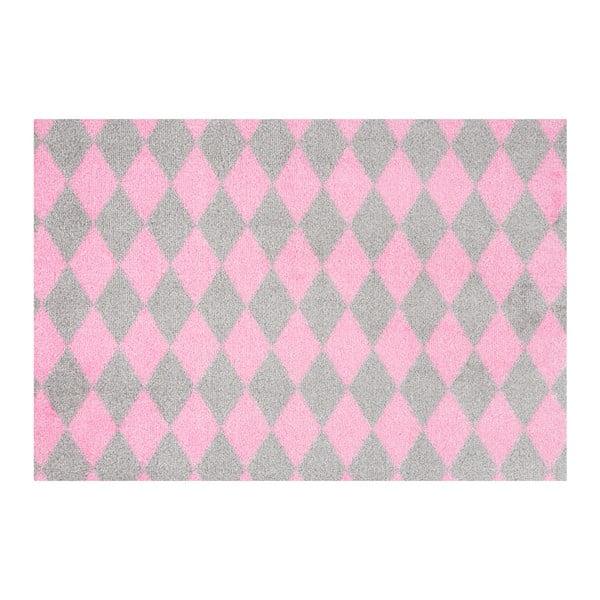 Różowo-szara wycieraczka Hanse Home Circus, 50x70 cm