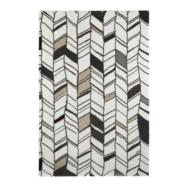 Šedý ručně vyráběný koberec Obsession My Soho Whit, 80 x 150 cm