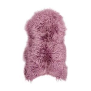 Růžová ovčí kožešina s dlouhým chlupem Arctic Fur Ptelja, 100x55cm