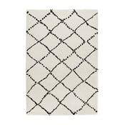 Covor Mint Rugs Allure Ronno Black White, 120 x 170 cm, alb-negru