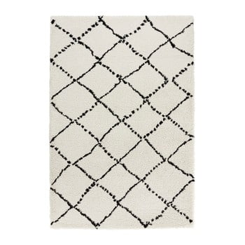 Covor Mint Rugs Allure Ronno Black Cream, 200 x 290 cm, bej-negru imagine