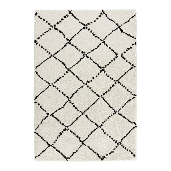 Covor Mint Rugs Allure Ronno Black Cream, 120 x 170 cm, bej-negru