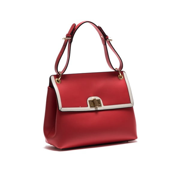 Kožená kabelka Anna Luchini 3043 Rosso