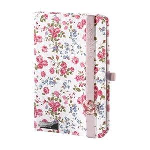 Zápisník Bloomy Rose White, A5
