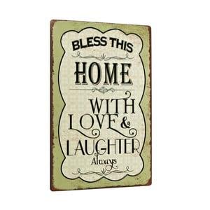 Cedule Bless this home, 35x24 cm