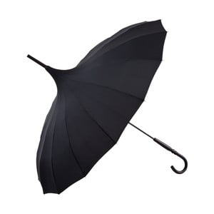 Černý holový deštník Von Lilienfeld Pagoda Charlotte
