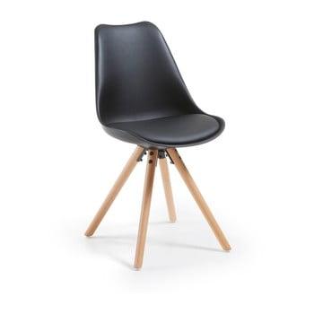 Scaun cu picioare din lemn de fag loomi.design Lumos, negru de la loomi.design