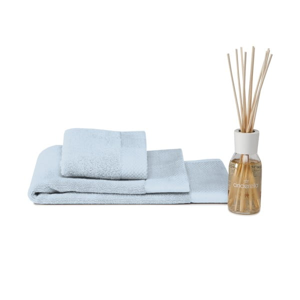 Set ručníku, předložky a difuzéru Pure Blue
