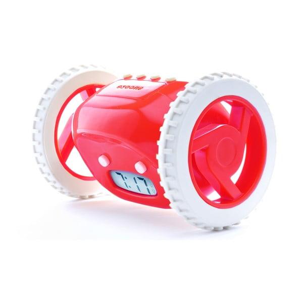 Clocky, budík na kolečkách, červený