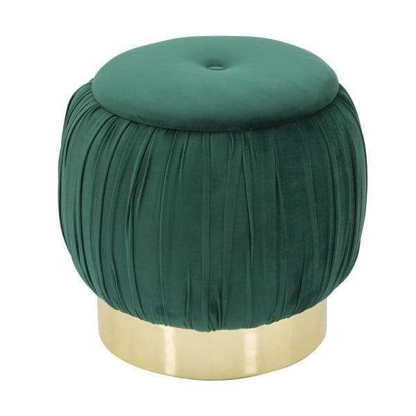 Zelená taburetka s úložným priestorom Mauro Ferretti Paris, ø 41 cm