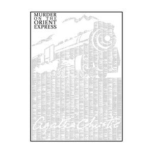 Knižní plakát Vražda v Orient Expresu, 70x100 cm