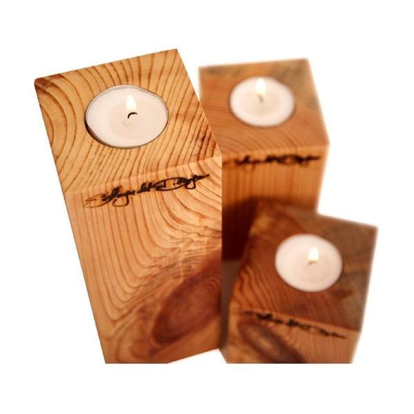 Set 3 svícnů Squere