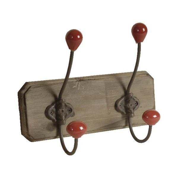 Drevený vešiak s 2 háčikmi Antic Line Red Double