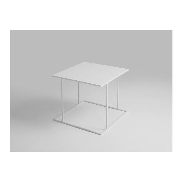 Walt fehér tárolóasztal, 50 x 50 cm - Custom Form