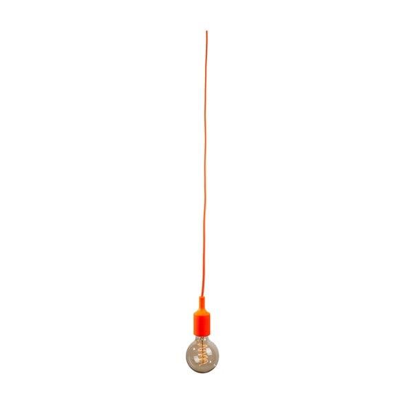 Textilní kabel s objímkou 1,5 m - oranžový