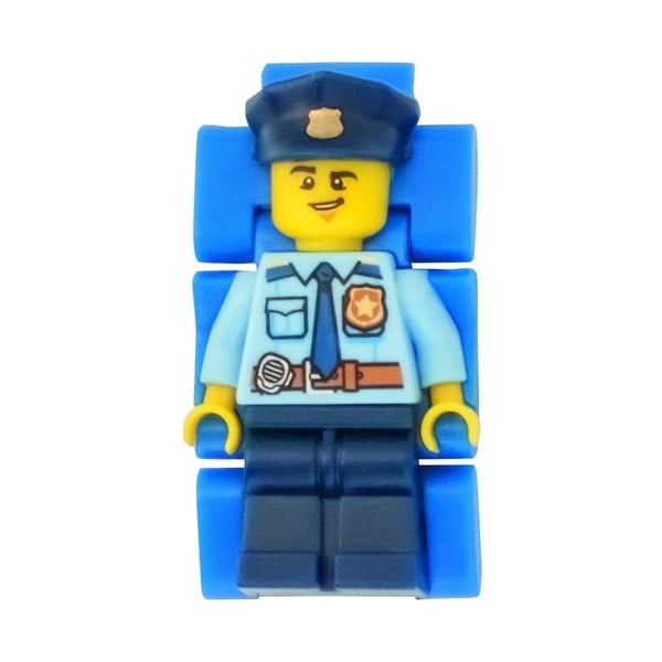 Dětské hodinky s figurkou LEGO® City Police Officer