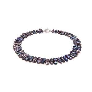 Náhrdelník z černých japonských perel Biwa GemSeller Salvia