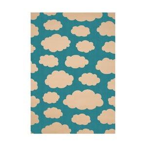 Dětský tyrkysový koberec Zala Living Cloud, 140x200cm
