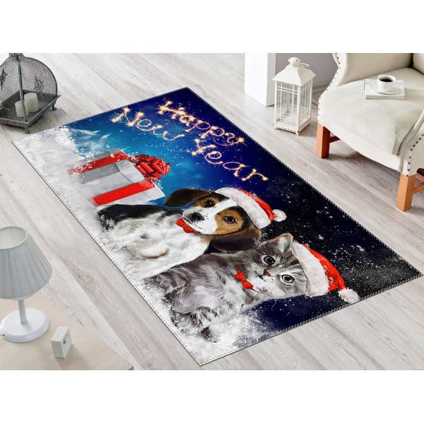 Dywan Vitaus Christmas Period Dogs, 50x80 cm
