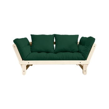 Canapea extensibilă Karup Design Beat Natural/Forest Green