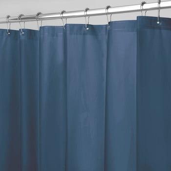 Perdea pentru duș iDesign PEVA, 183x183cm, albastru
